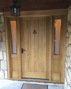 Completed front entrance frame.